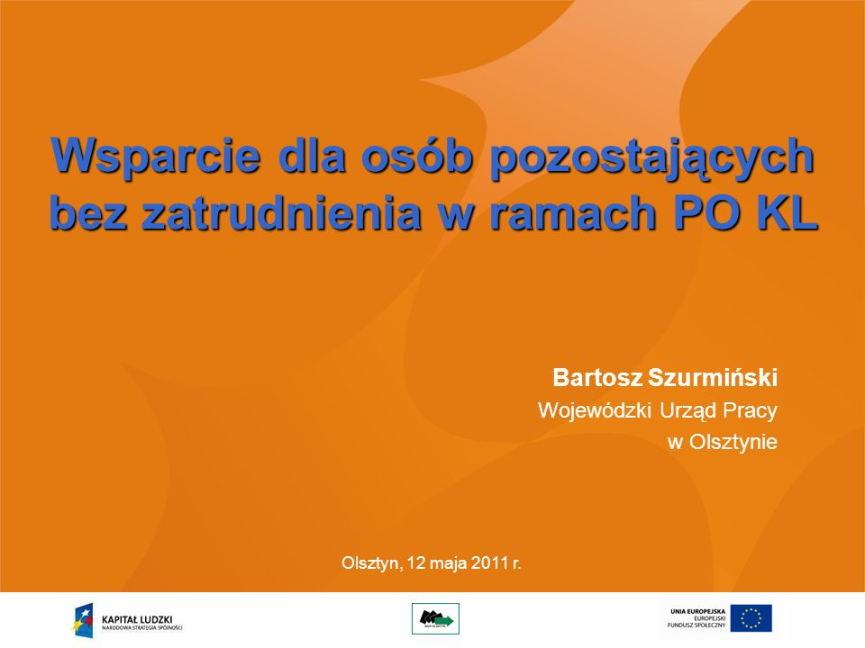 2 Zadania WUP w PO Kapitał Ludzki Wojewódzki Urząd Pracy w Olsztynie pełni funkcję Instytucji Pośredniczącej II stopnia dla: Do zadań WUP należy w szczególności: opracowywanie rocznej i wieloletniej prognozy wydatków w ramach Działań; przygotowywanie rocznych Planów Działań; dokonywanie oceny projektów, podejmowanie decyzji o współfinansowaniu i podpisywanie umów; rozliczanie umów z Beneficjentami zgodnie z przyjętymi procedurami i dokonywanie płatności; monitorowanie postępów realizacji umów; przygotowywanie okresowych, rocznych i końcowych sprawozdań z realizacji Działań; kontrola realizowanych projektów; prowadzenie działań informacyjno-promocyjnych.