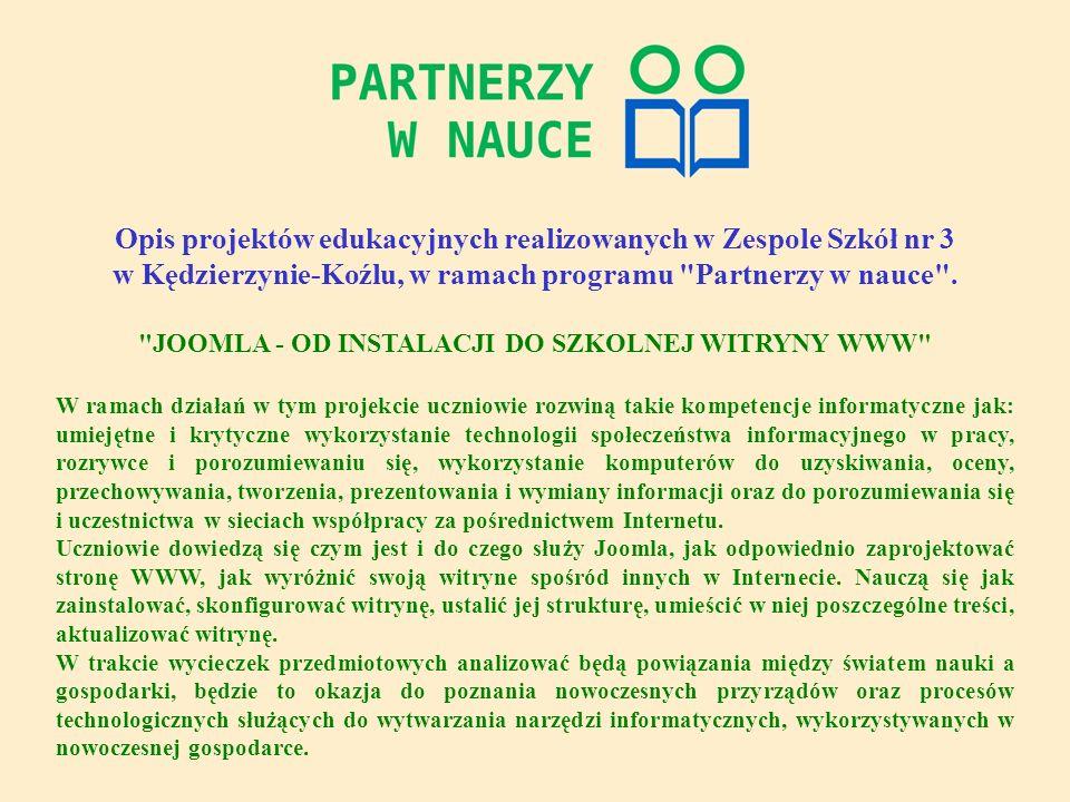 Efekty naszej pracy można śledzić na stronie internetowej zrobionej na potrzeby projektu http://test.slawiecice.edu.pl/ Zapraszamy!