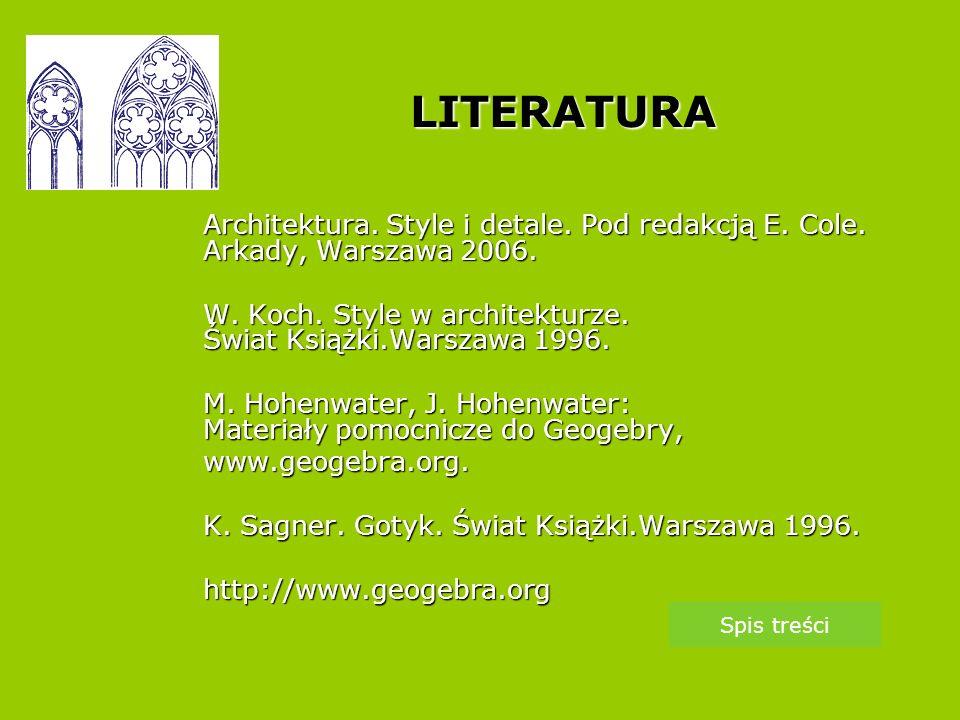 LITERATURA Architektura.Style i detale. Pod redakcją E.