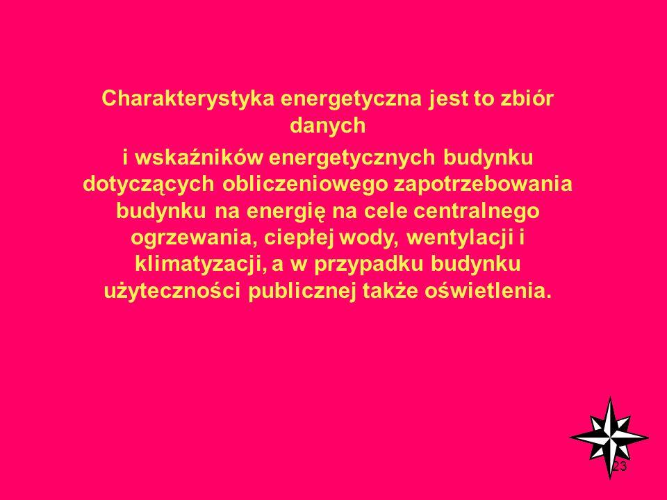 122 Świadectwo jest sporządzane na podstawie oceny energetycznej, polegającej na określeniu wielu różnych parametrów energetycznych (zintegrowanej cha