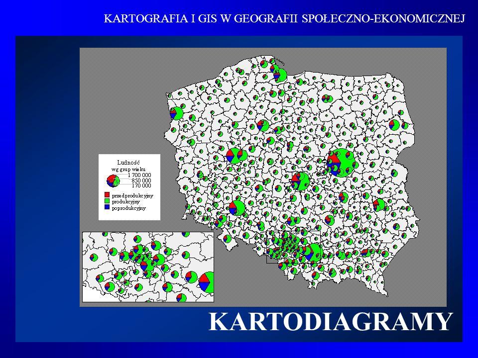 Kartodiagramem nazywamy sposób przedstawienia dowolnego zjawiska za pomocą diagramów rozmieszczonych na mapie i wyrażających wielkość ilościową zjawiska występującego w odpowiedniej jednostce odniesienia Definicja