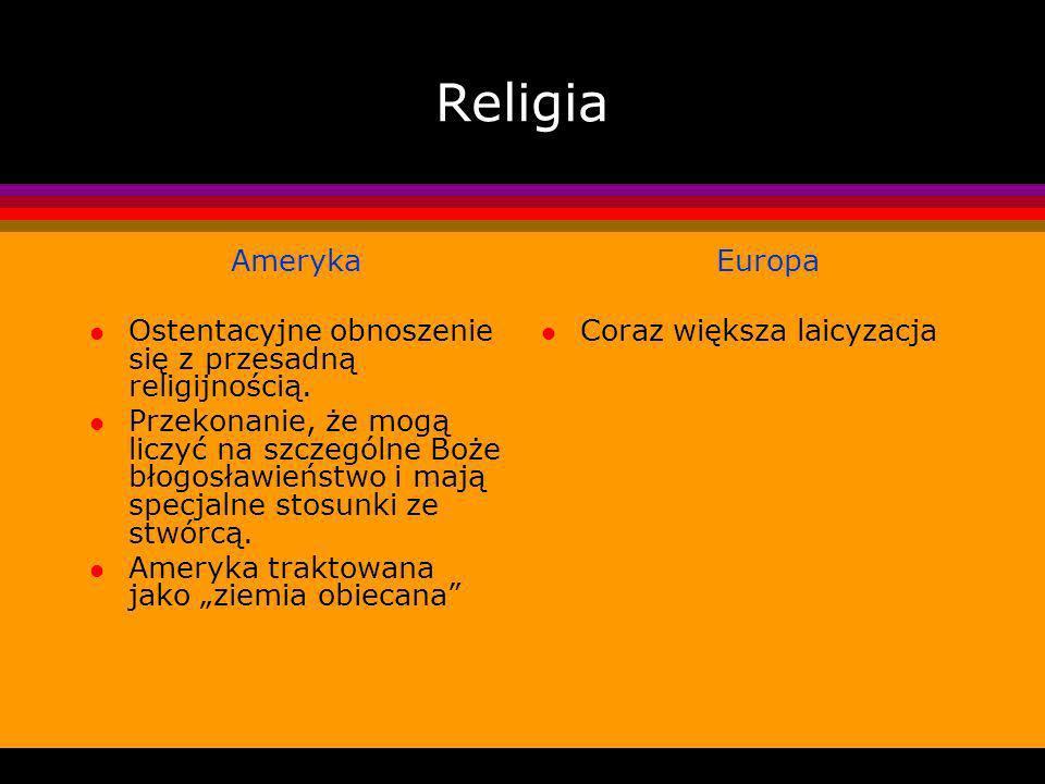 Religia Ameryka l Ostentacyjne obnoszenie się z przesadną religijnością.
