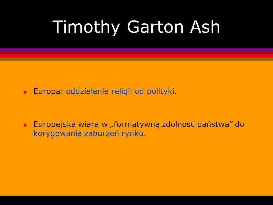 Timothy Garton Ash l Europa: oddzielenie religii od polityki.