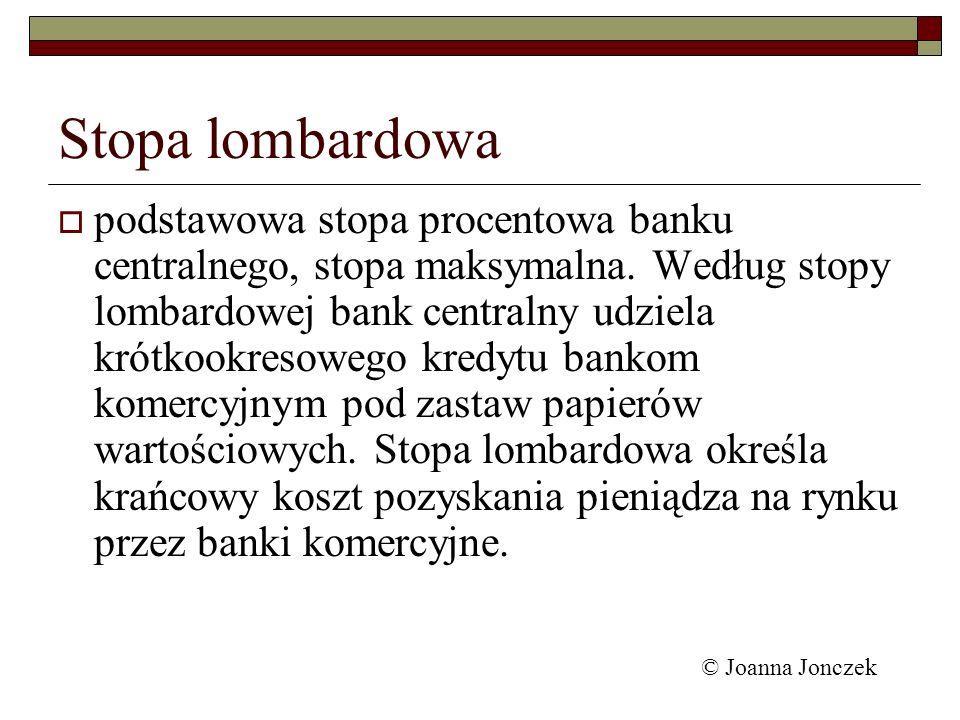 Stopa lombardowa podstawowa stopa procentowa banku centralnego, stopa maksymalna. Według stopy lombardowej bank centralny udziela krótkookresowego kre