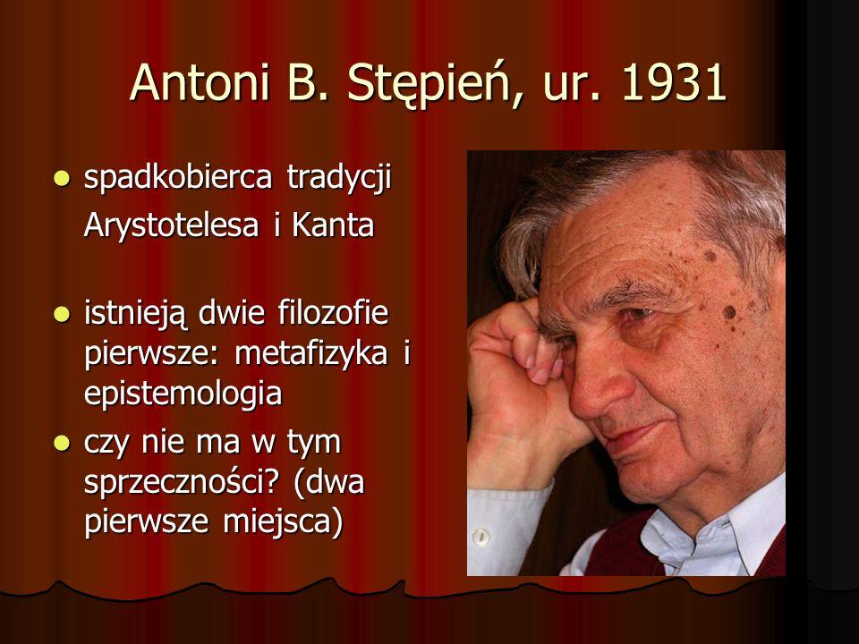Dwie filozofie pierwsze Filozofia pierwsza to dyscyplina niezależna metodologicznie lub epistemologicznie od innych dyscyplin i nauk.