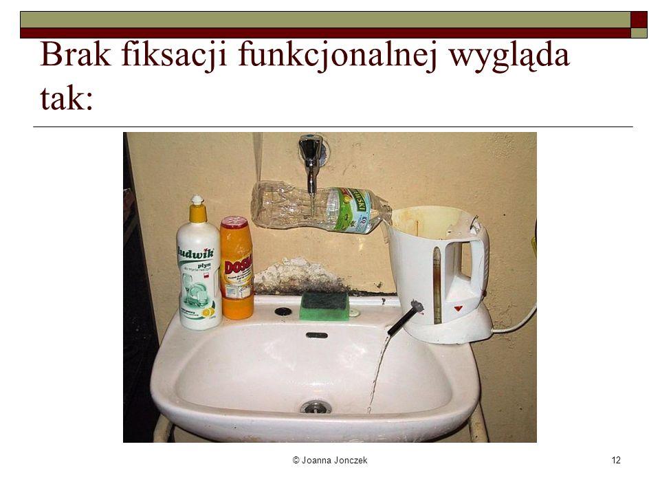 © Joanna Jonczek12 Brak fiksacji funkcjonalnej wygląda tak: