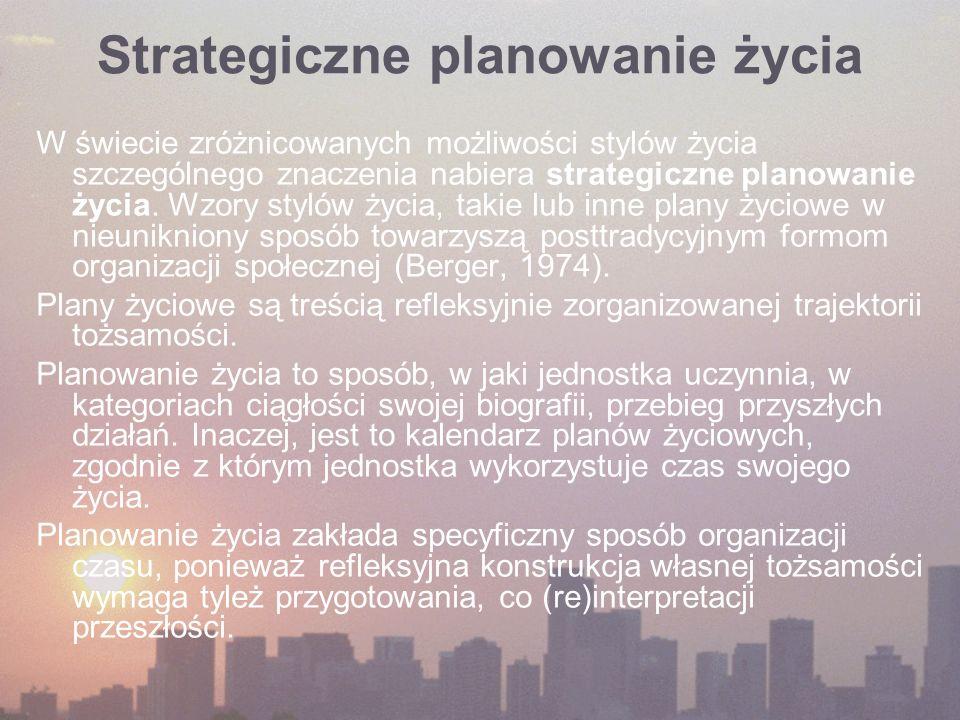 Strategiczne planowanie życia W świecie zróżnicowanych możliwości stylów życia szczególnego znaczenia nabiera strategiczne planowanie życia.