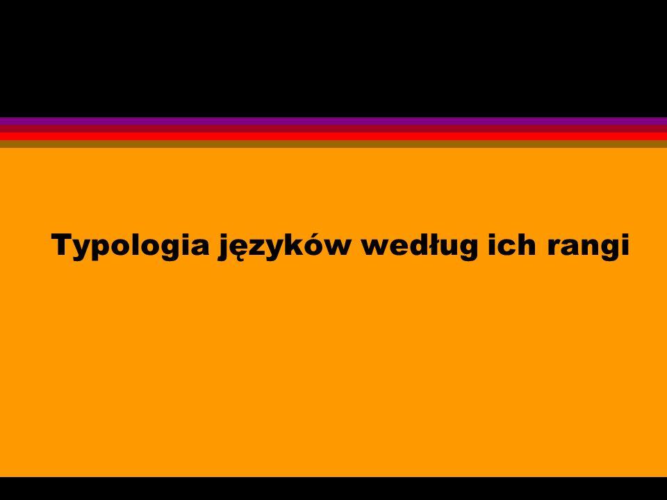 Typologia języków według ich rangi