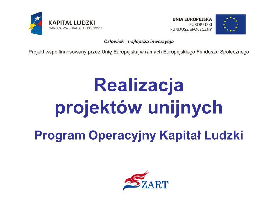 Realizacja projektów unijnych Program Operacyjny Kapitał Ludzki