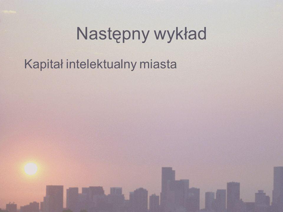 Następny wykład Kapitał intelektualny miasta