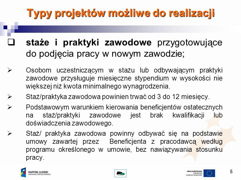16 Kryteria strategiczne 1.Projekt jest realizowany przez Wnioskodawcę posiadającego siedzibę główną na terenie powiatu (powiat należący do właściwego subregionu) 10 pkt.