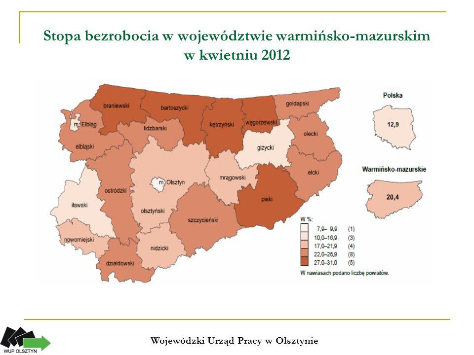 Stopa bezrobocia w Europie (kwiecień 2012) Unia Europejska 11,0% Kraje strefy euro 10,3%