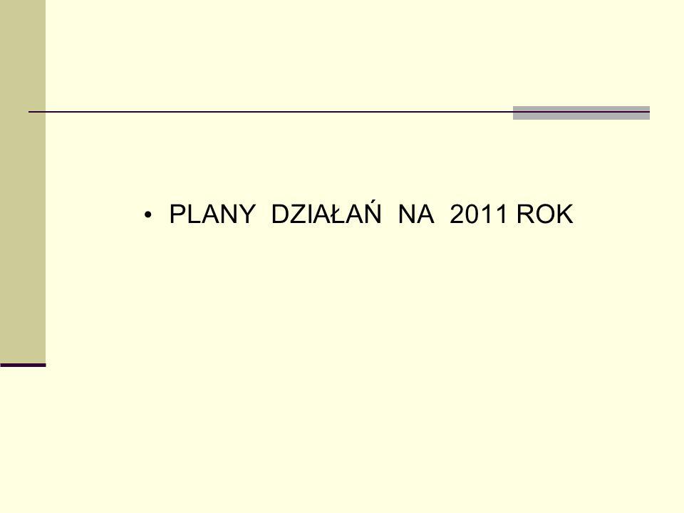 PLANY DZIAŁAŃ NA 2011 ROK