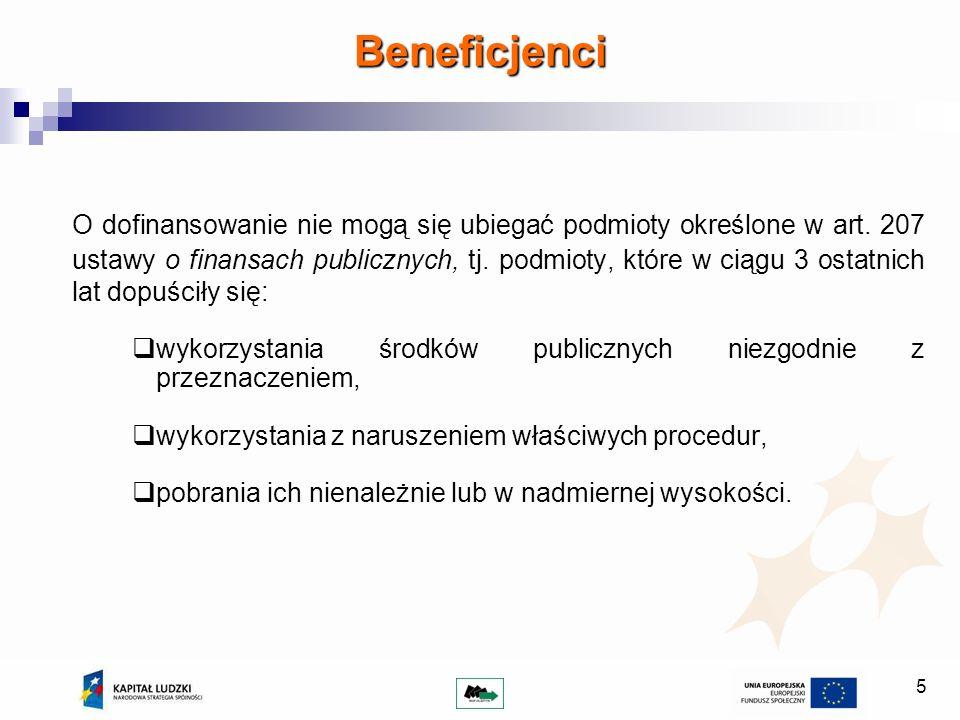 6 Opracowanie i przedłożenie do WUP wniosku o dofinansowanie, zgodnie z wymogami określonymi w dokumentacji konkursowej, Dystrybucja pożyczek na podstawie obiektywnych i merytorycznych kryteriów selekcji opisanych we wniosku o dofinansowanie projektu, dokonywanie oceny wniosku pożyczkowego oraz monitorowanie prawidłowości spłaty pożyczki, na podstawie opracowanego przez Pośrednika finansowego regulaminu pożyczkowego przy zagwarantowaniu bezstronności i przejrzystości zastosowanych procedur, Przygotowanie dokumentów niezbędnych do prawidłowej realizacji wsparcia, w tym: regulamin projektu, wzory wniosków, umów, oświadczeń, itd., które podlegać będą akceptacji ze strony WUP, Prowadzenie odrębnego rachunku bankowego przeznaczonego na obsługę funduszu pożyczkowego Obowiązki Beneficjenta