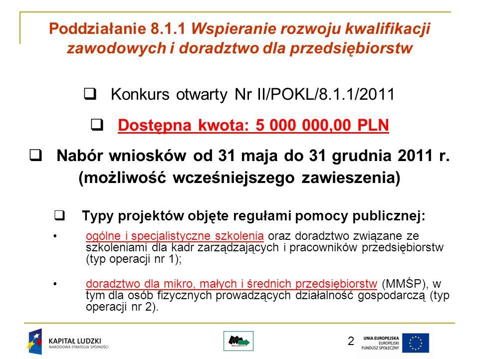 3 Projekt zapewnia wsparcie przedsiębiorstw zaliczanych do kategorii MŚP, na ternie całego województwa warmińsko-mazurskiego oraz zakłada działanie punktów konsultacyjnych przynajmniej po jednym w każdym podregionie zgodnie z nomenklaturą NUTS3.