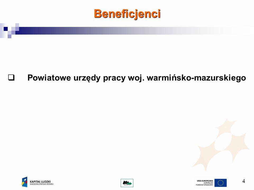 4 Beneficjenci Powiatowe urzędy pracy woj. warmińsko-mazurskiego