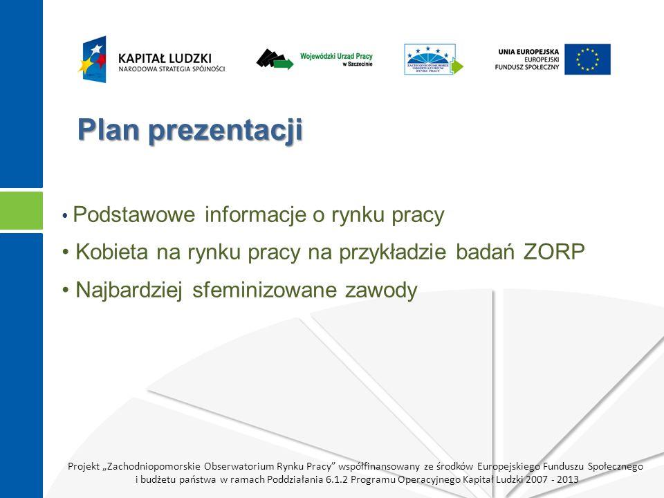 Projekt Zachodniopomorskie Obserwatorium Rynku Pracy współfinansowany ze środków Europejskiego Funduszu Społecznego i budżetu państwa w ramach Poddziałania 6.1.2 Programu Operacyjnego Kapitał Ludzki 2007 - 2013 Podstawowe informacje o rynku pracy* PolskaWoj.
