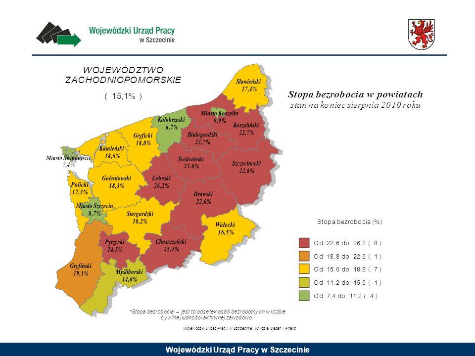Wojewódzki Urząd Pracy w Szczecinie Bezrobotni według wykształcenia w końcu II kwartału 2010 roku w województwie zachodniopomorskim