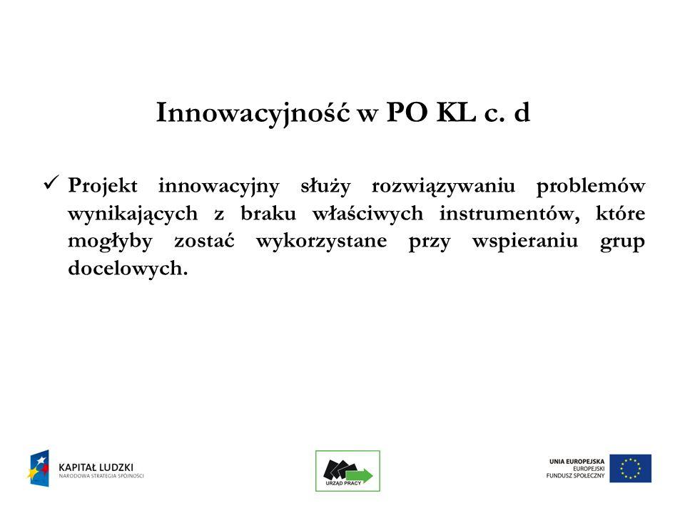 5 Innowacyjność w PO KL c.