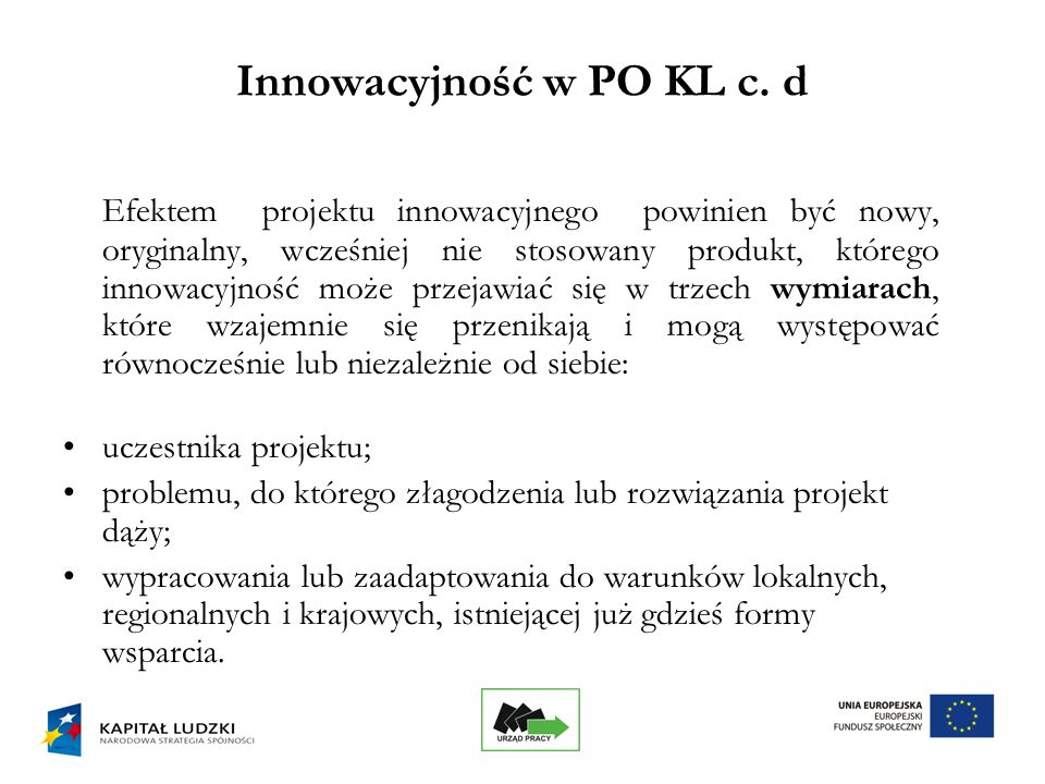 6 Innowacyjność w PO KL c.