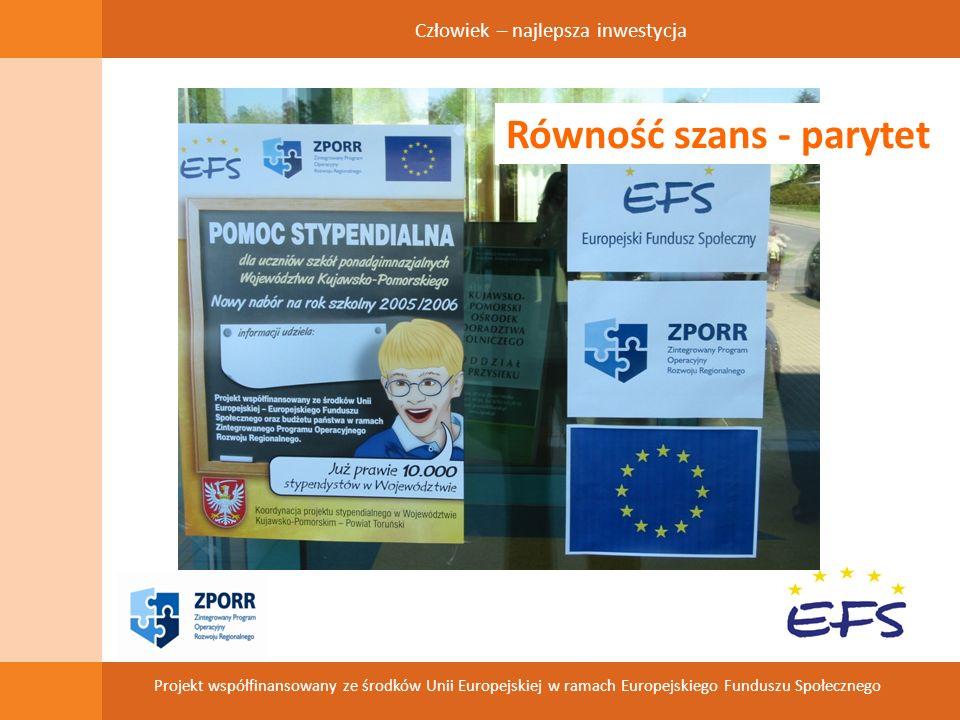 Człowiek – najlepsza inwestycja Projekt współfinansowany ze środków Unii Europejskiej w ramach Europejskiego Funduszu Społecznego Diagnoza sytuacji powiat toruński – 8 gmin wiejskich i 1 miejska (Chełmża – 16 tys.