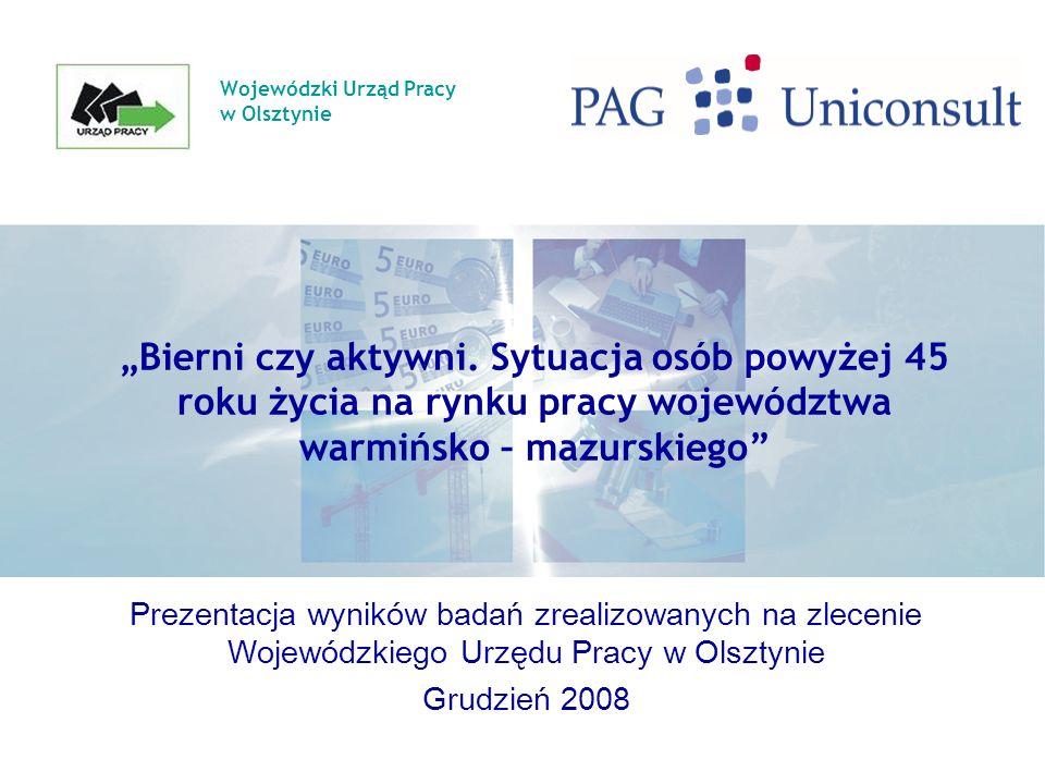 Wojewódzki Urząd Pracy w Olsztynie Bierni czy aktywni.