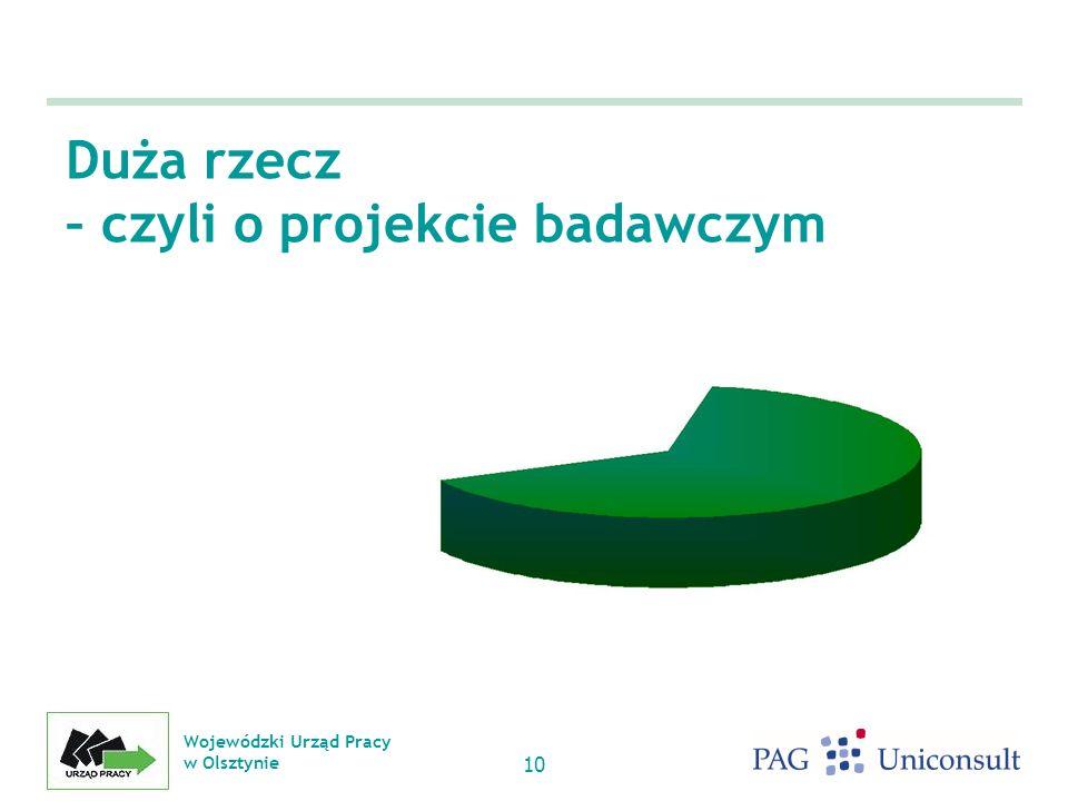 Wojewódzki Urząd Pracy w Olsztynie 10 Duża rzecz – czyli o projekcie badawczym