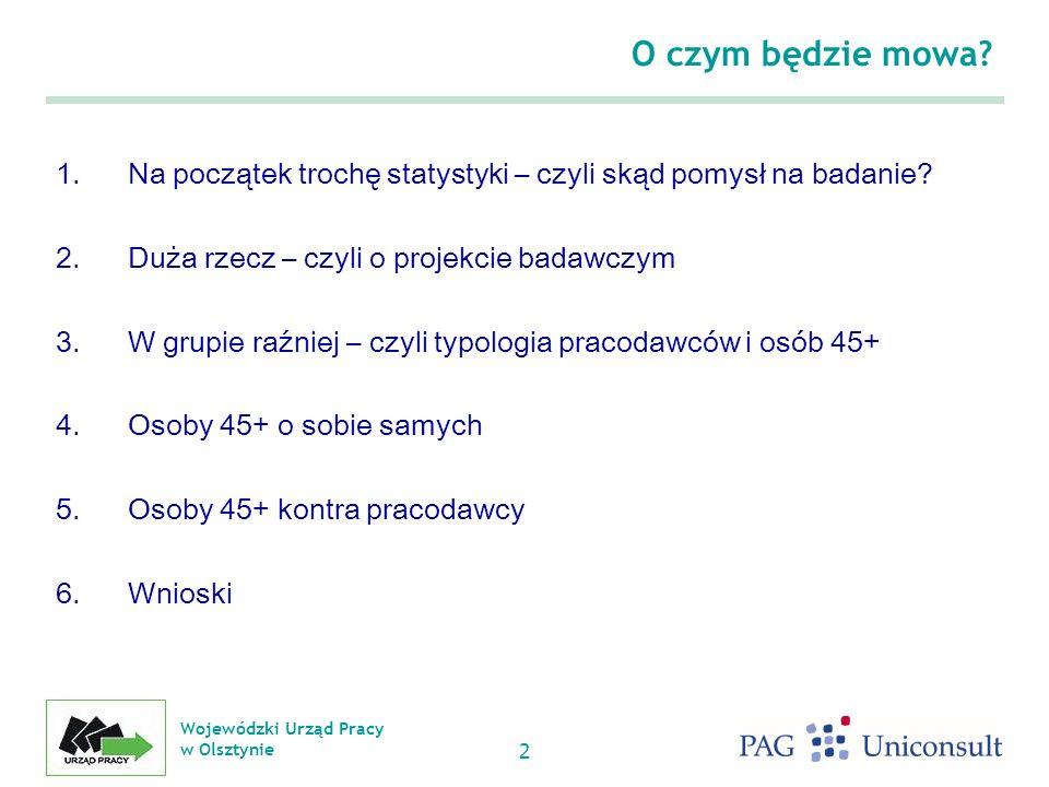 Wojewódzki Urząd Pracy w Olsztynie 2 O czym będzie mowa.