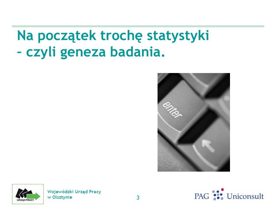 Wojewódzki Urząd Pracy w Olsztynie 3 Na początek trochę statystyki – czyli geneza badania.