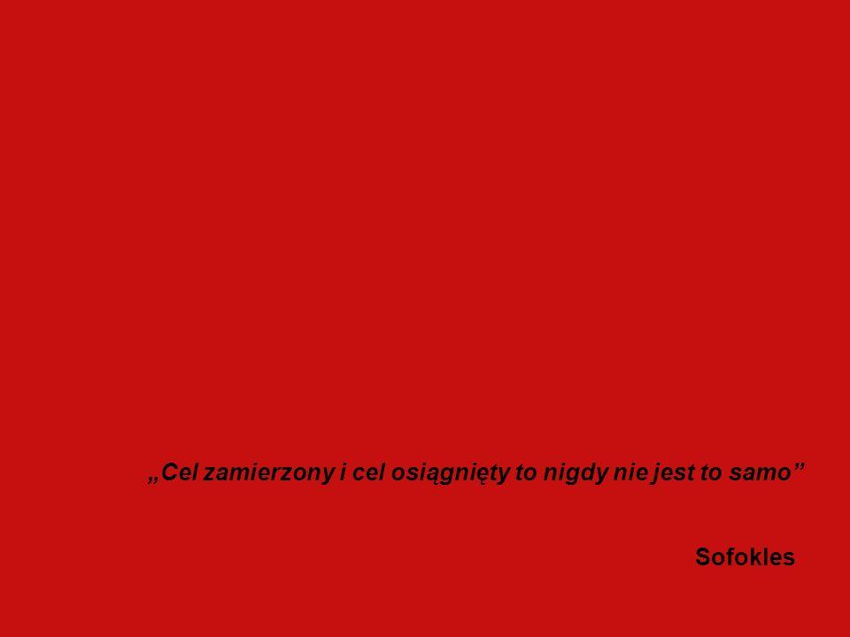Cel zamierzony i cel osiągnięty to nigdy nie jest to samo Sofokles