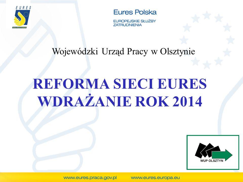 REFORMA SIECI EURES WDRAŻANIE ROK 2014 Wojewódzki Urząd Pracy w Olsztynie