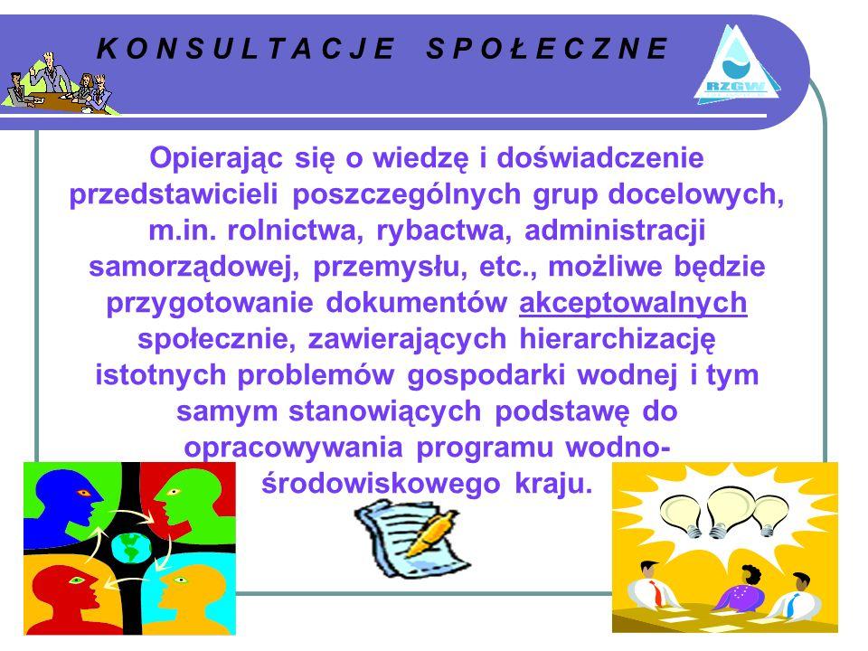 K O N S U L T A C J E S P O Ł E C Z N E Opierając się o wiedzę i doświadczenie przedstawicieli poszczególnych grup docelowych, m.in.