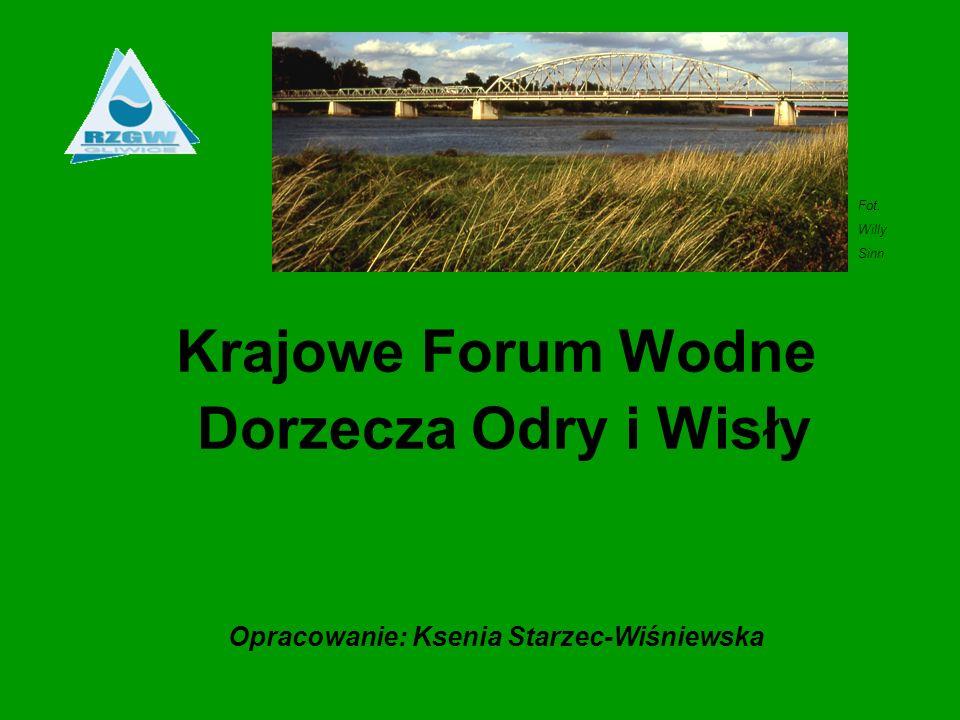 Krajowe Forum Wodne Dorzecza Odry i Wisły Opracowanie: Ksenia Starzec-Wiśniewska Fot. Willy Sinn
