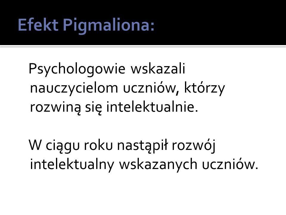 Psychologowie wskazali nauczycielom uczniów, którzy rozwiną się intelektualnie.