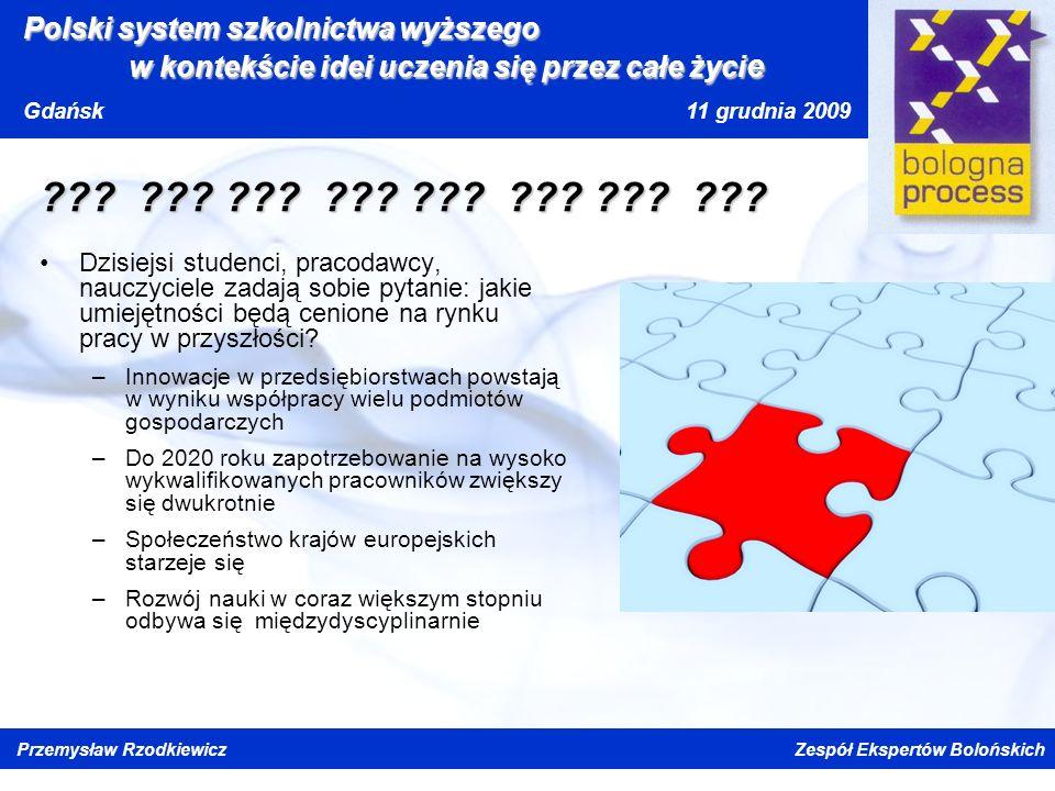 Kliknij, aby edytować styl wzorca tytułu Kliknij, aby edytować style wzorca tekstu Drugi poziom Trzeci poziom Czwarty poziom Piąty poziom Polski system szkolnictwa wyższego w kontekście idei uczenia się przez całe życi e Gdańsk 11 grudnia 2009 Przemysław Rzodkiewicz Zespół Ekspertów Bolońskich .