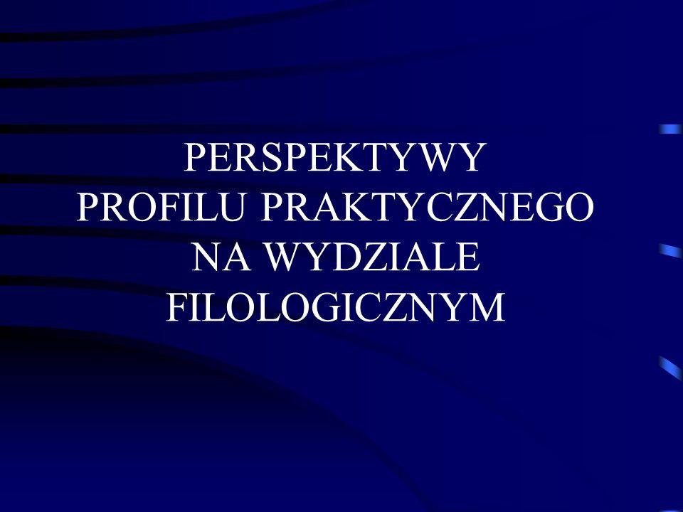 PERSPEKTYWY PROFILU PRAKTYCZNEGO NA WYDZIALE FILOLOGICZNYM