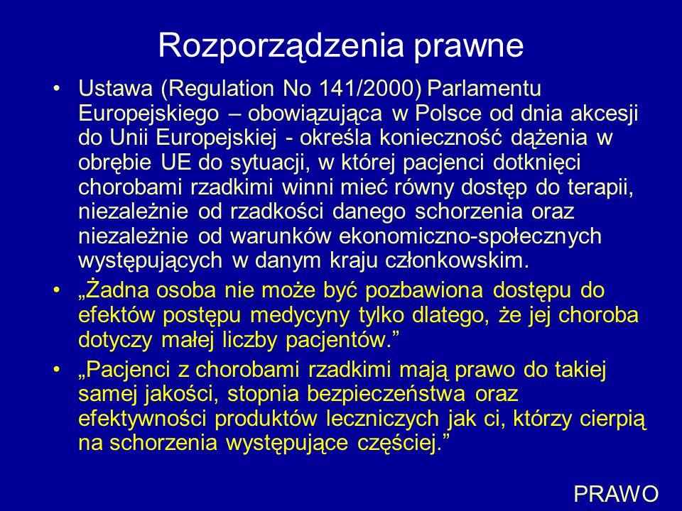 Rozporządzenia prawne Ustawa (Regulation No 141/2000) Parlamentu Europejskiego – obowiązująca w Polsce od dnia akcesji do Unii Europejskiej - określa