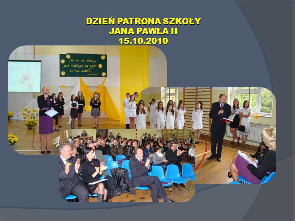 DZIEŃ PATRONA SZKOŁY JANA PAWŁA II 15.10.2010
