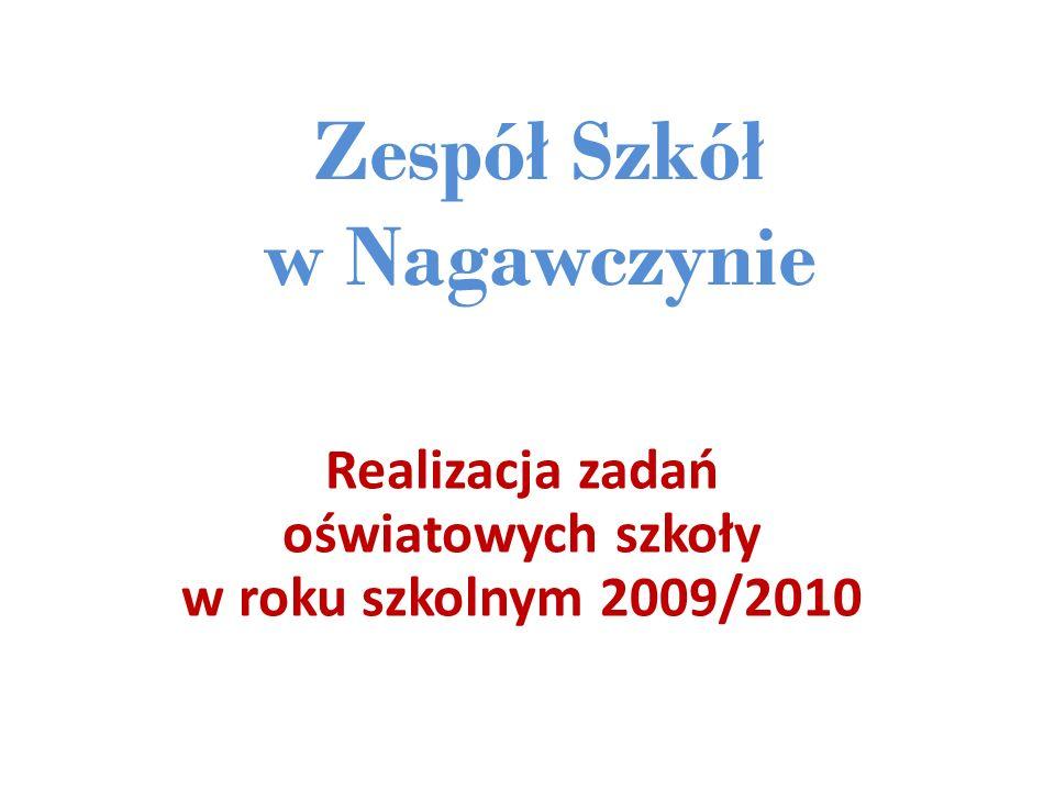 Zespół Szkół w Nagawczynie Realizacja zadań oświatowych szkoły w roku szkolnym 2009/2010