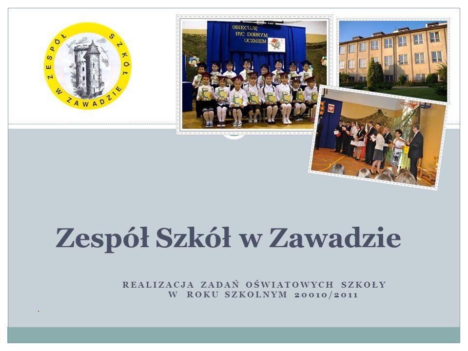 REALIZACJA ZADAŃ OŚWIATOWYCH SZKOŁY W ROKU SZKOLNYM 20010/2011 Zespół Szkół w Zawadzie