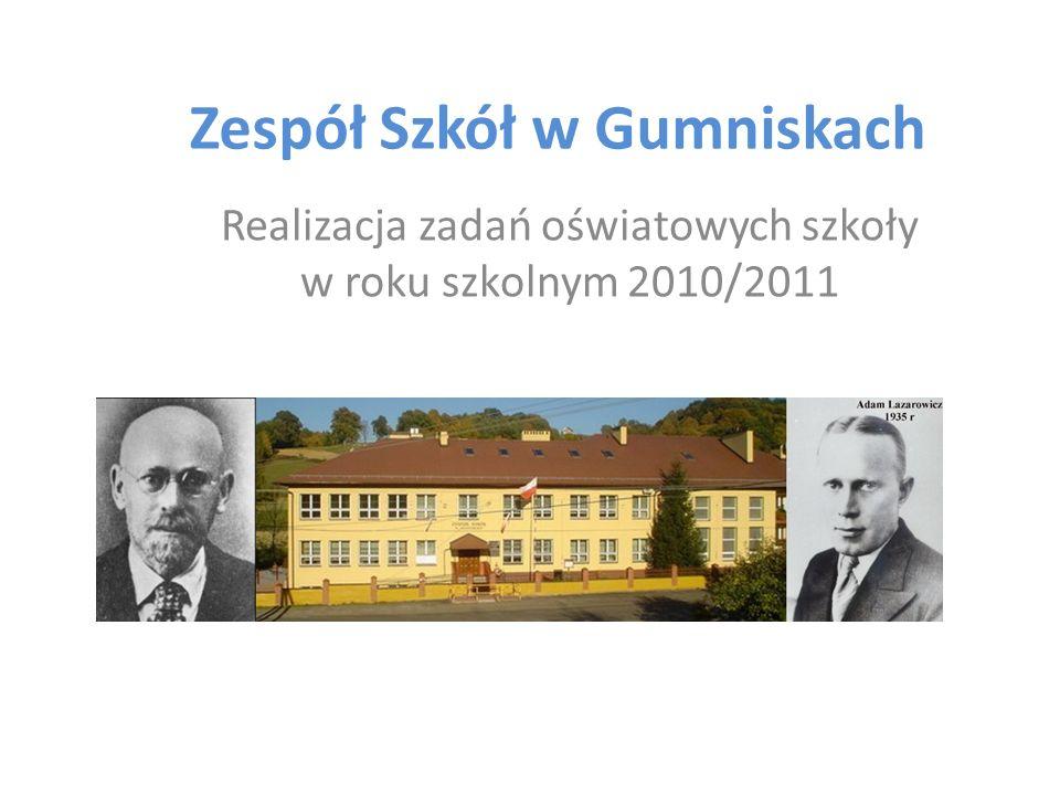 Zespół Szkół w Gumniskach Realizacja zadań oświatowych szkoły w roku szkolnym 2010/2011