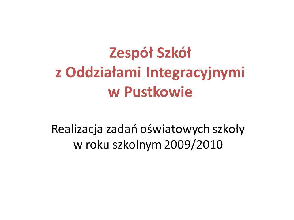 Zespół Szkół z Oddziałami Integracyjnymi w Pustkowie Realizacja zadań oświatowych szkoły w roku szkolnym 2009/2010