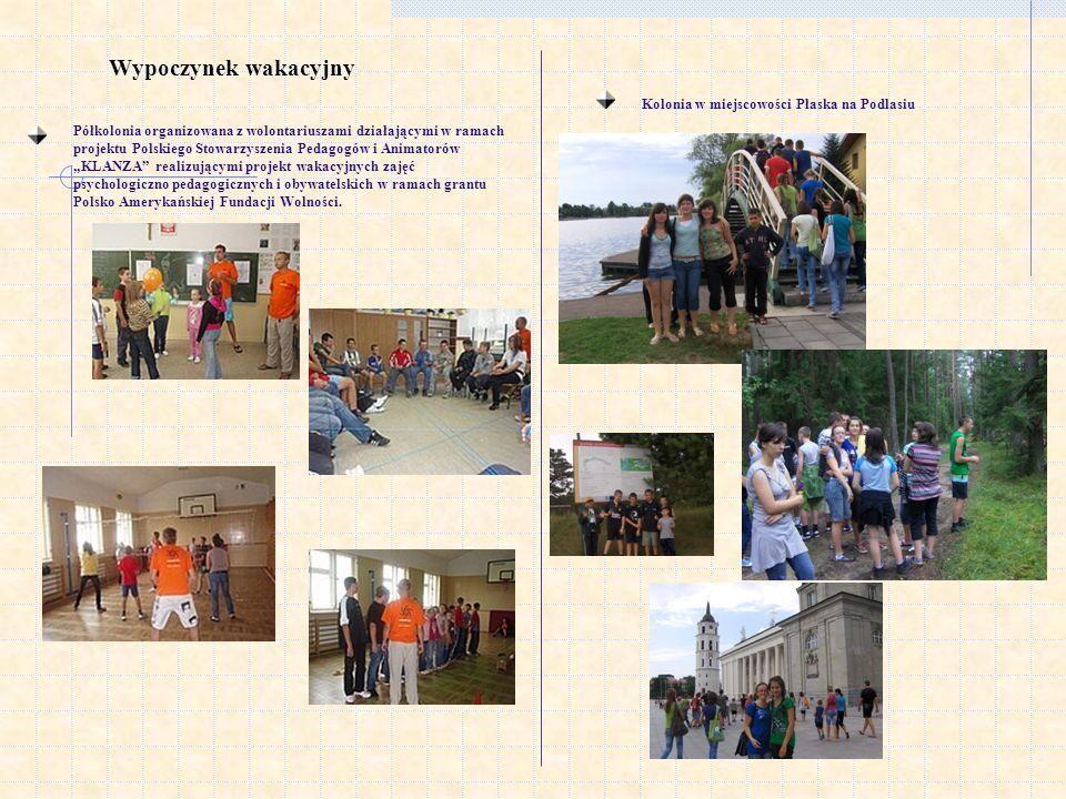 Wypoczynek wakacyjny Półkolonia organizowana z wolontariuszami działającymi w ramach projektu Polskiego Stowarzyszenia Pedagogów i Animatorów KLANZA r