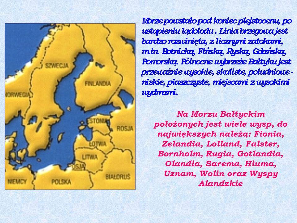 Morze Bałtyckie jest średniej wielkości morzem płytkim, wewnątrzkontynentalnym.
