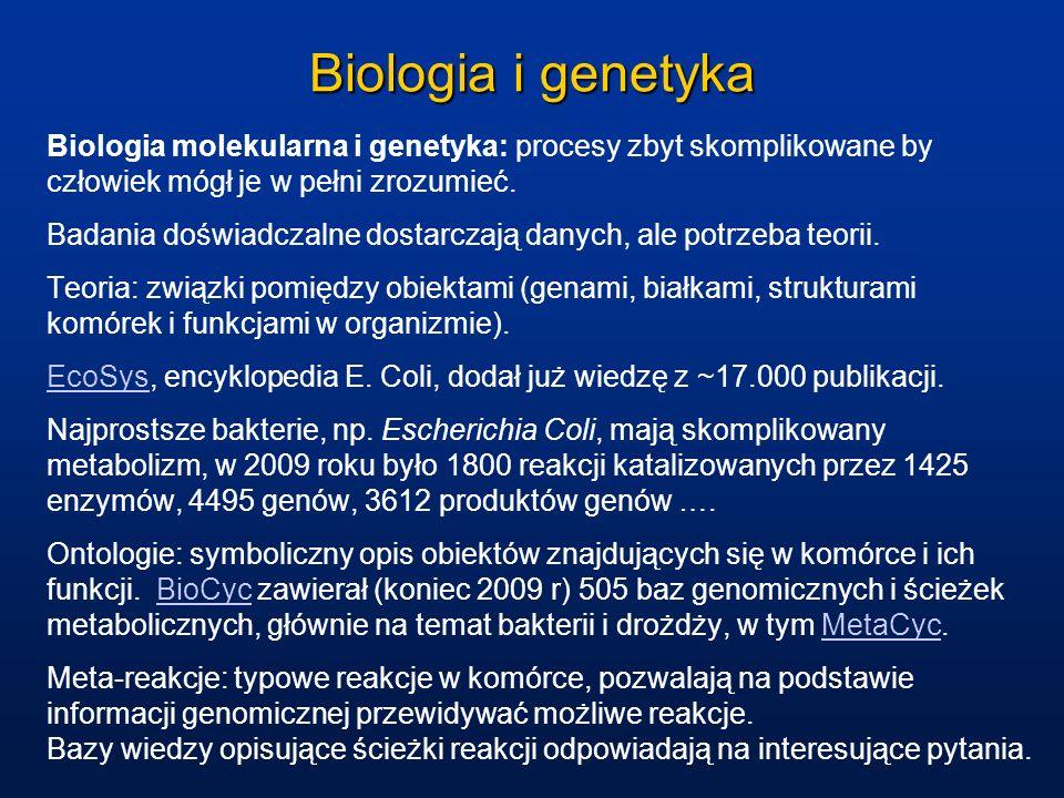 Biologia i genetyka Biologia molekularna i genetyka: procesy zbyt skomplikowane by człowiek mógł je w pełni zrozumieć. Badania doświadczalne dostarcza