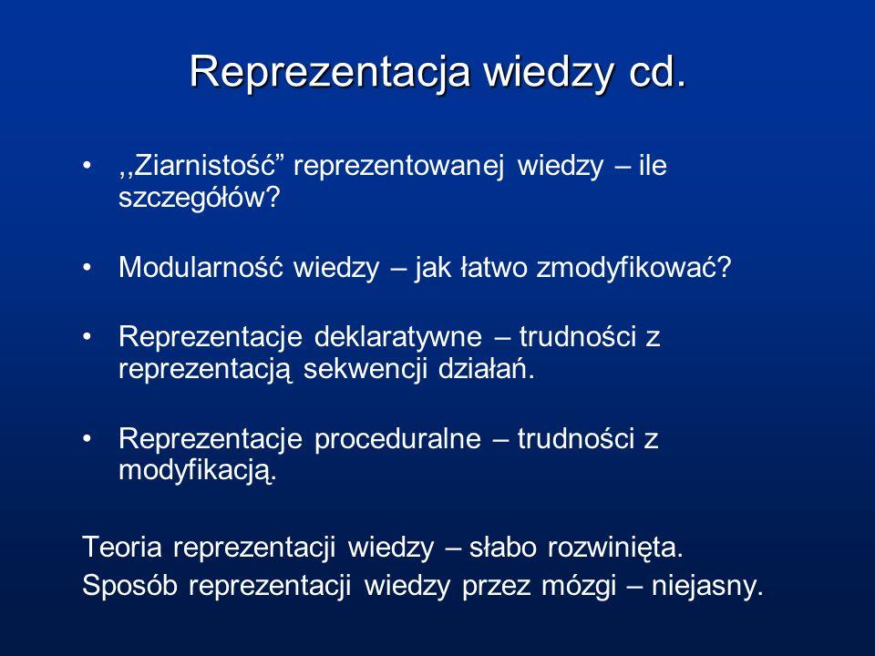 Reprezentacja wiedzy cd.,,Ziarnistość reprezentowanej wiedzy – ile szczegółów.