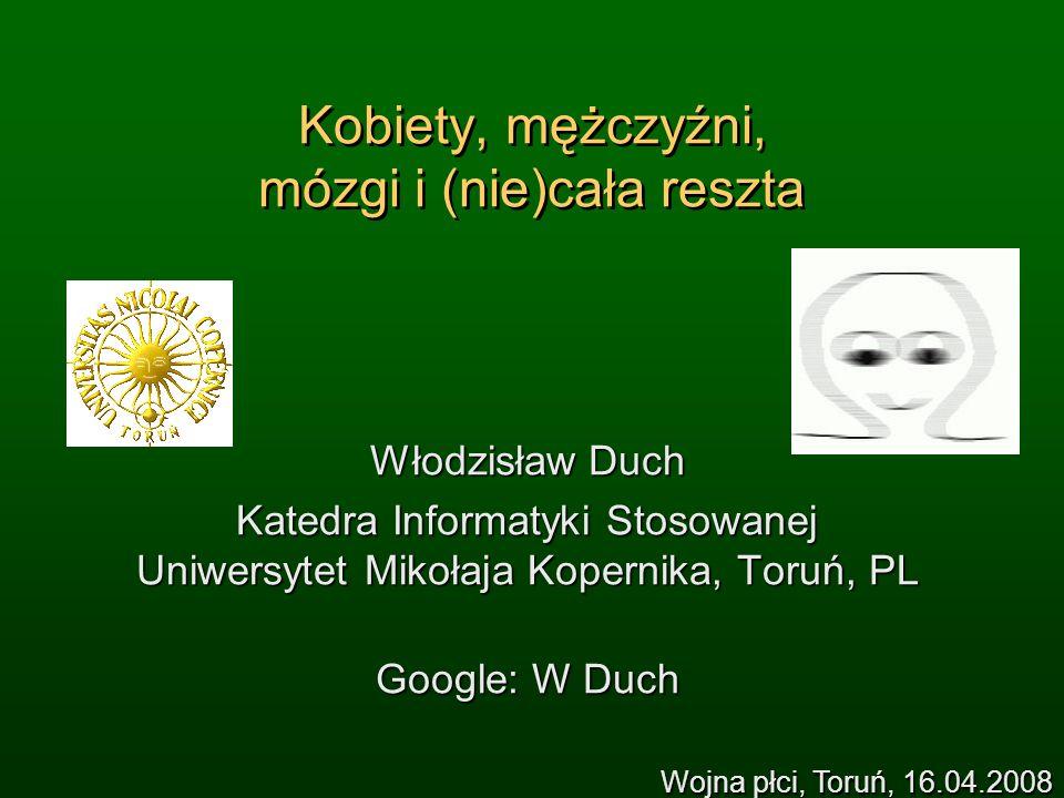 WWW (Google Duch) => referaty Wykłady: Jak działa mózg.
