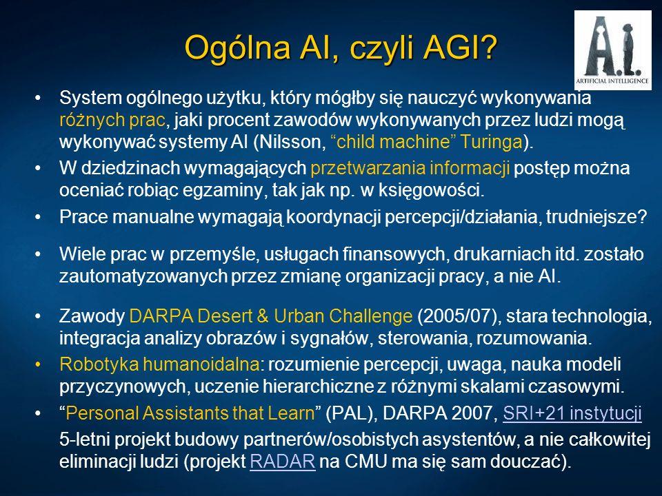 Emergent CA: others NOMAD (Neurally Organized Mobile Adaptive Device) (Edelman >20 lat), oparty o teorię neuronalnego Darwinizmu, emergentna architektura rozpoznająca wzorce w czasie rzeczywistym.