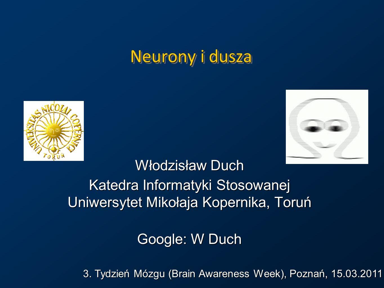 Przestrzenie umysłu Aktywność mózgu => siec grup neuronów => neurodynamika => trajektoria A(t) w przestrzeni aktywacji.