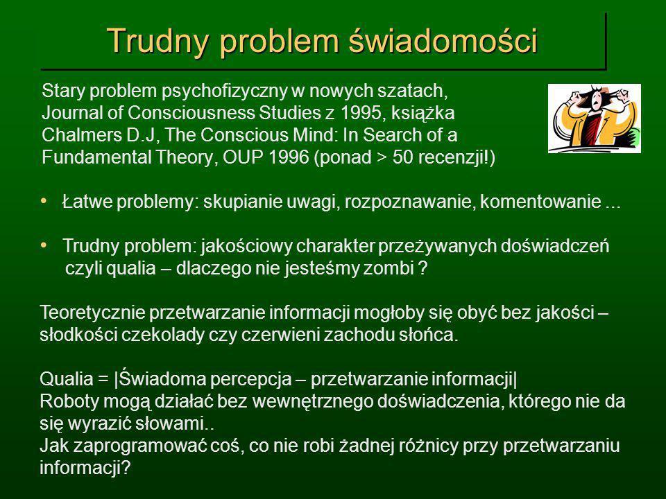 Trudny problem świadomości Stary problem psychofizyczny w nowych szatach, Journal of Consciousness Studies z 1995, książka Chalmers D.J, The Conscious